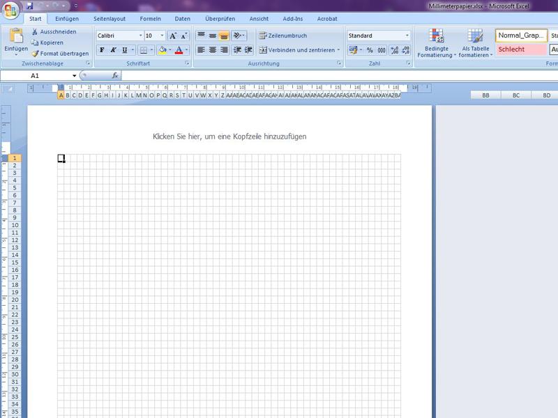 Fein Millimeterpapier Vorlage Excel Zeitgenössisch - Entry Level ...