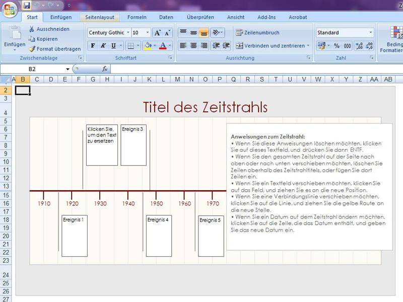Zeitstrahl | Excelvorlage.de